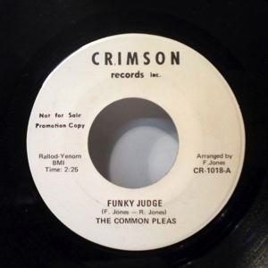 THE COMMON PLEAS - Funky judge - 45T (SP 2 titres)