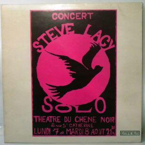 STEVE LACY - Solo - LP