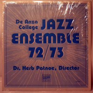 DE ANZA COLLEGE JAZZ ENSEMBLE - 72/73 - LP