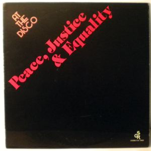 PEACE, JUSTICE & EQUALITY - At The Disco - LP