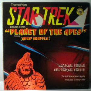 THE JEFF WAYNE SPACE SHUTTLE - Theme From Star Trek Theme From Planet Of The Apes - 33T