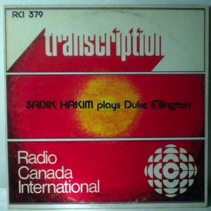 SADIK HAKIM - Plays Duke Ellington - LP