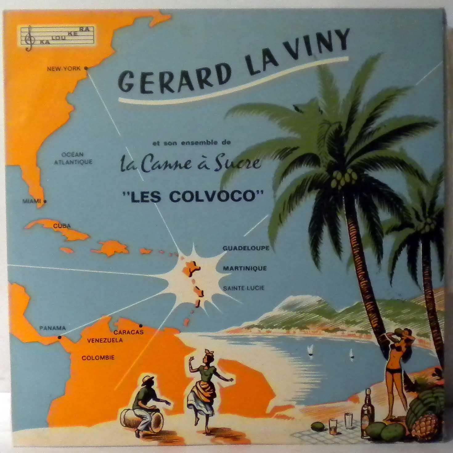 GERARD LA VINY - Et Son Ensemble De La Canne A Sucre Les Colvoco - 10 inch