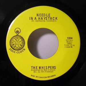 THE WHISPERS - Needle In A Haystack - 45T (SP 2 titres)
