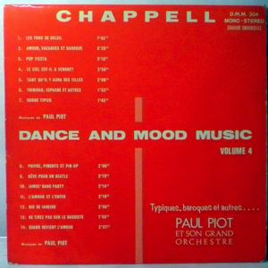 PAUL PIOT - Dance And Mood Music Vol. 4 - 33T