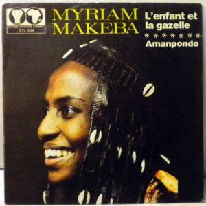 MYRIAM MAKEBA - L'enfant et la gazelle / Amanpondo - 7inch (SP)