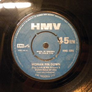 DAN SATCH & HIS ATOMIC DANCE BAND OF ABA - Woman pin down / Je nr'okan - 7inch (SP)