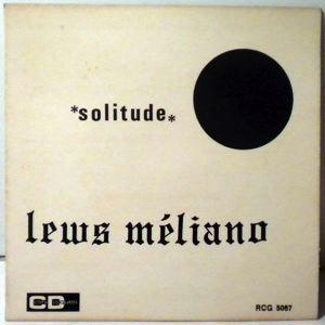 LEWS MELIANO - Solitude / Moin ja soufre - 45T (SP 2 titres)