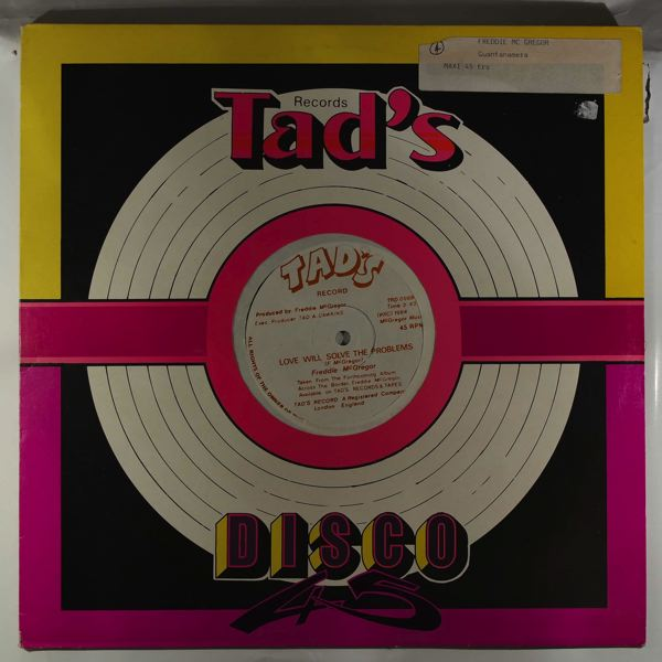 FREDDIE MCGREGOR - Love will solve the problems - Maxi 45T