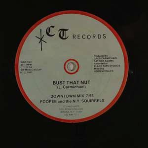 POOPEE AND THE N.Y. SQUIRRELS - Bust that nut - Maxi 45T