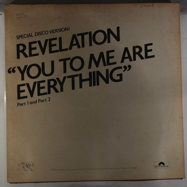 REVELATION - You to me are everything - Maxi 45T