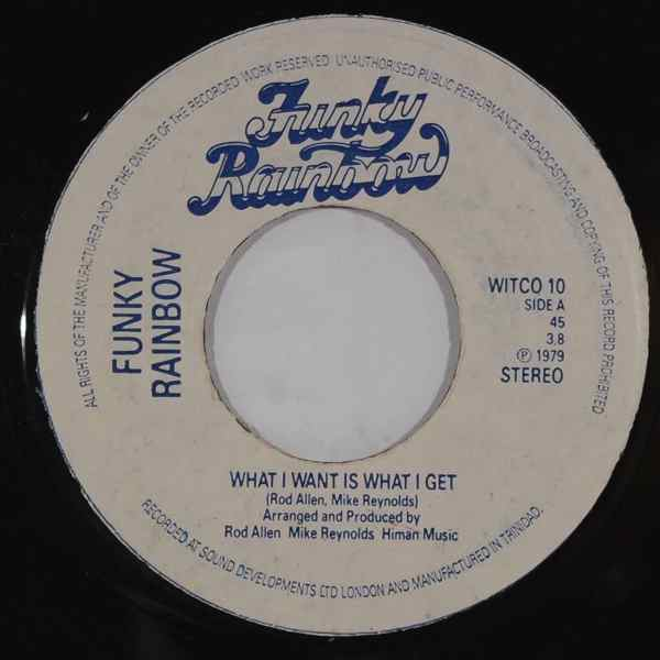 FUNKY RAINBOW - What i want is what i get - 7inch (SP)