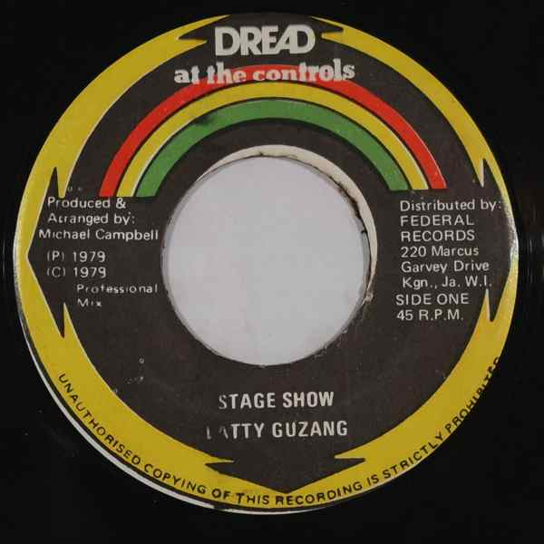 LATTY GUZANG - Stage show - 7inch (SP)