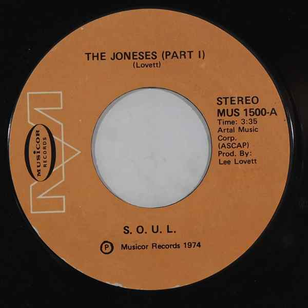 S.O.U.L. - The Joneses - 7inch (SP)