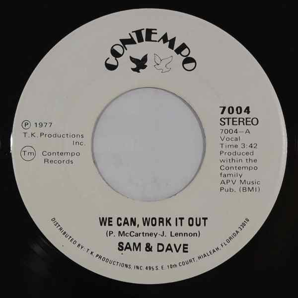 SAM & DAVE - We can work it out / Why did you do it - 7inch (SP)