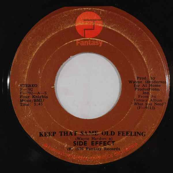 SIDE EFFECT - Keep that same old feeling - 7inch (SP)