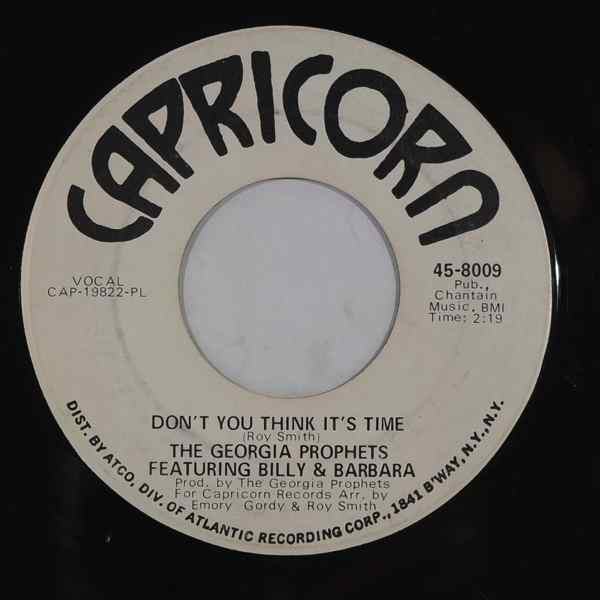 THE GEORGIA PROPHETS - Don't you think it's time / Nobody loves me like you do - 7inch (SP)