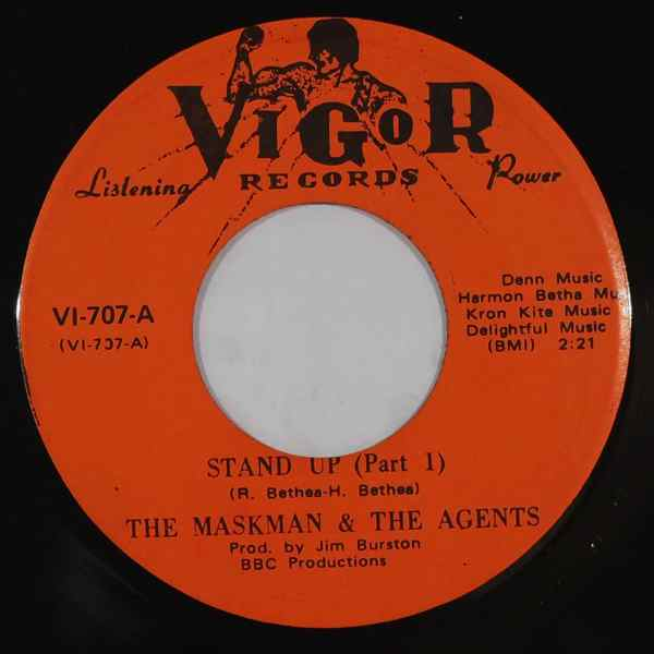 THE MASKMAN & THE AGENTS - Stand up - 7inch (SP)