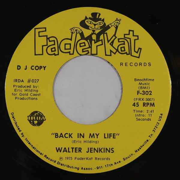 WALTER JENKINS - Back In My Life - 7inch (SP)