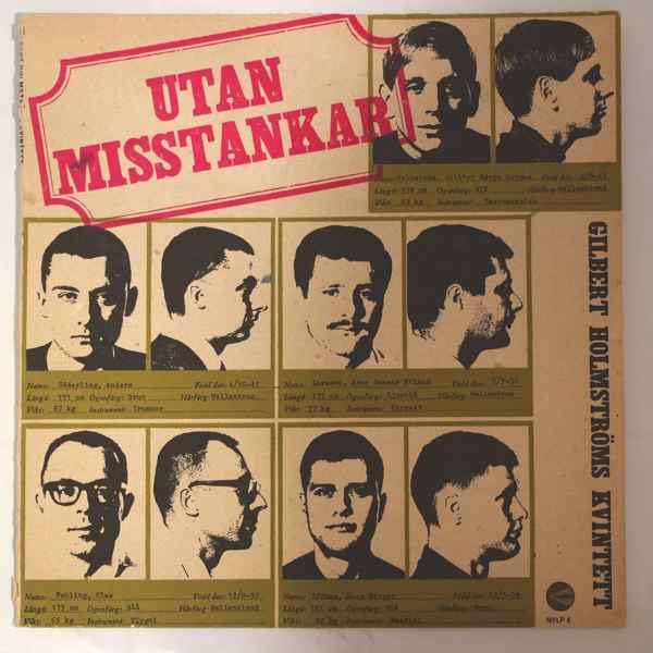 GILBERT HOLMSTROMS KVINTETT - Utan Misstankar - LP