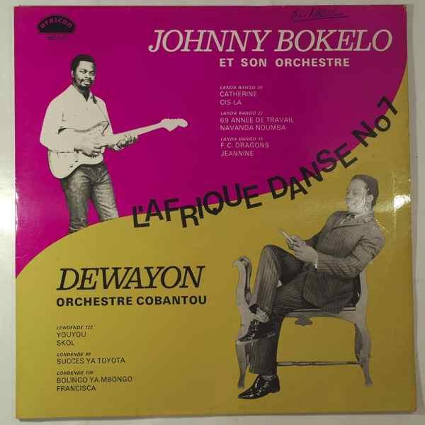 JOHNNY BOKELO / DEWAYON ORCHESTRE COBANTOU - L'Afrique danse N¡7 - LP