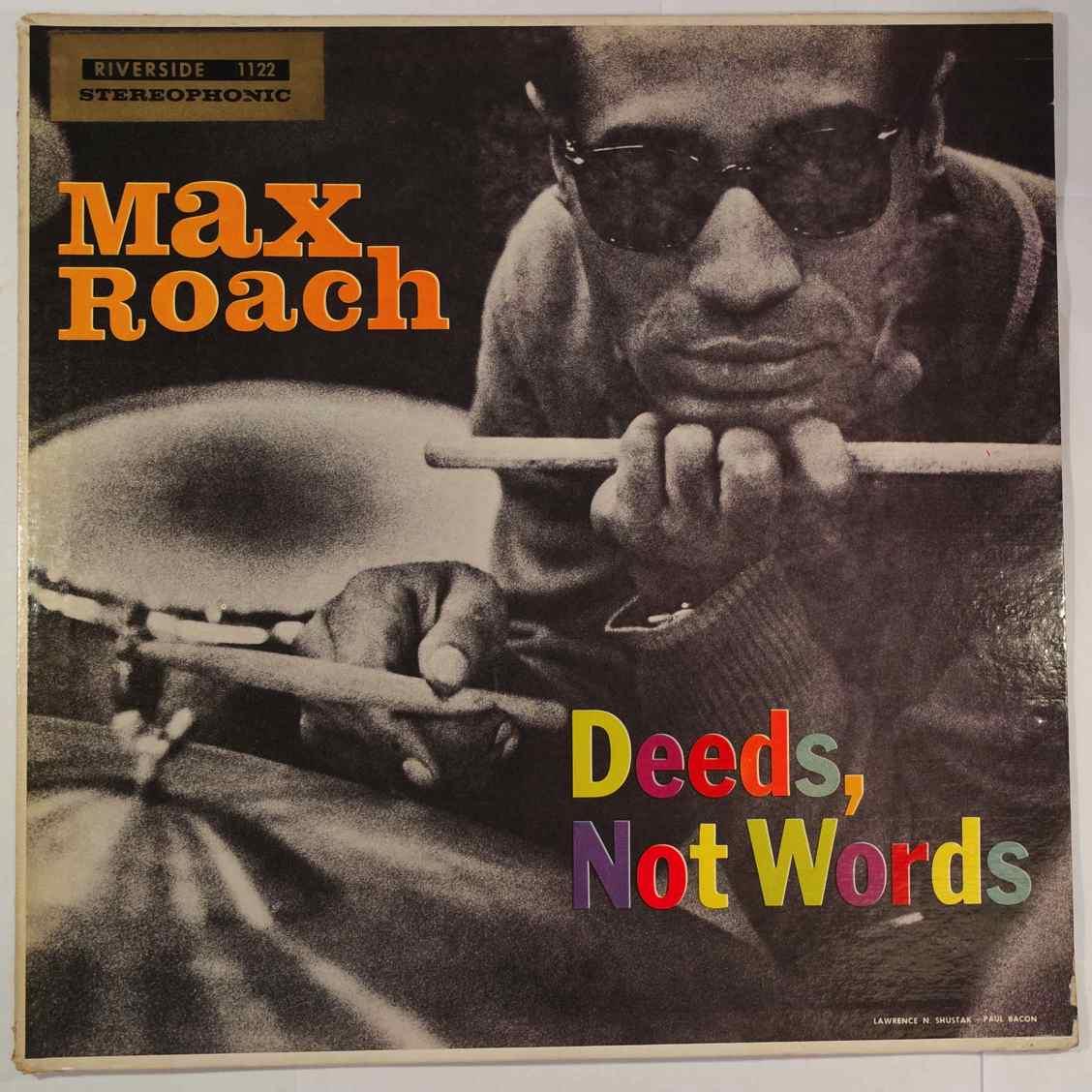 MAX ROACH - Deeds Not Words - LP