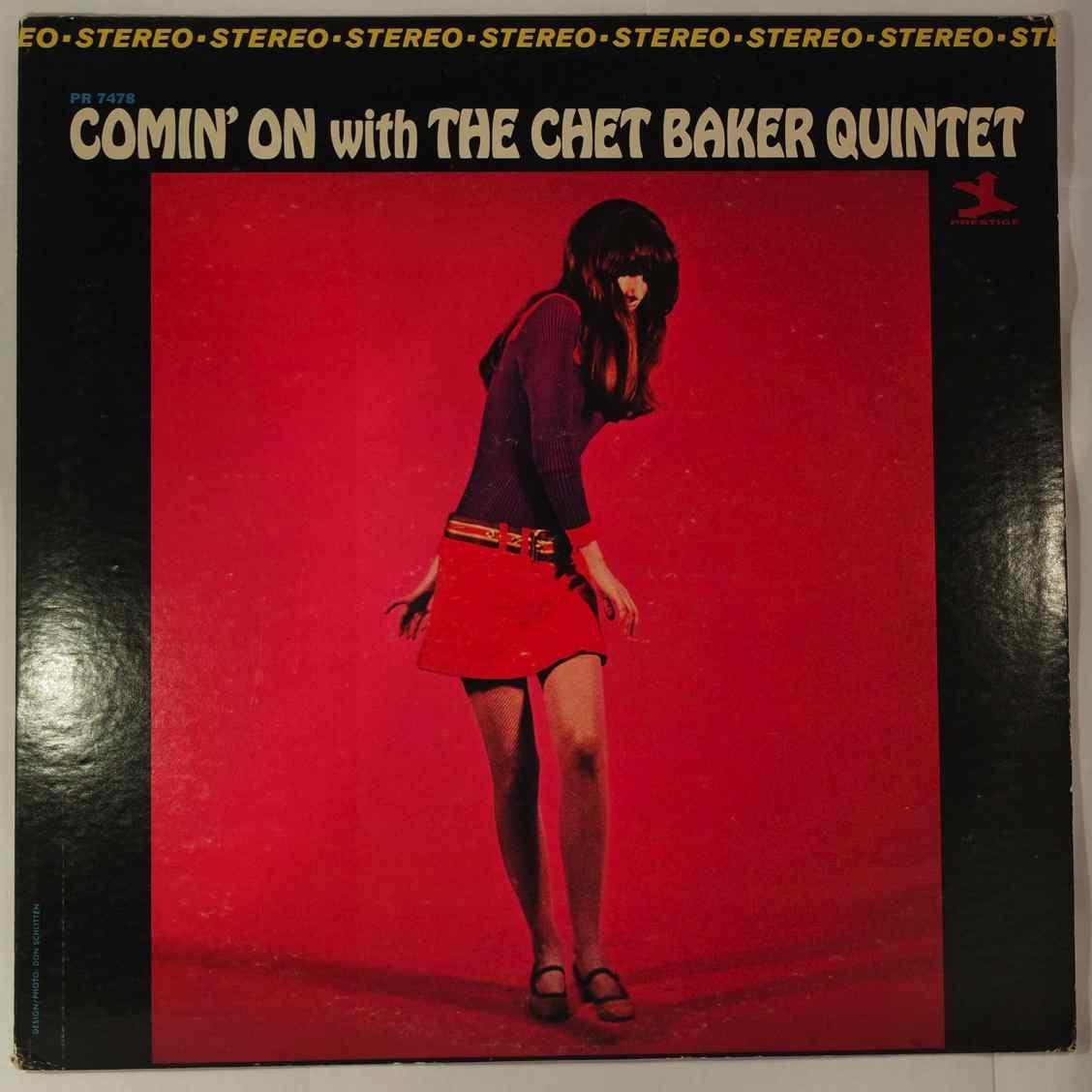 CHET BAKER - Comin' On With The Chet Baker Quintet - LP