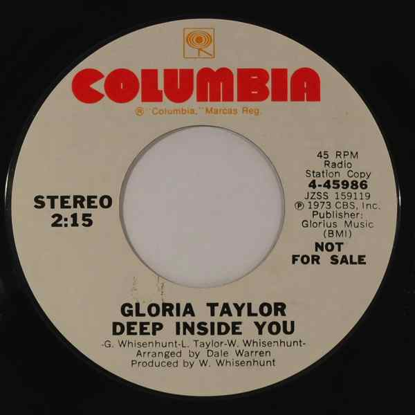 GLORIA TAYLOR - Deep Inside You - 7inch (SP)