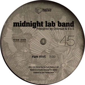 MIDNIGHT LAB BAND - Run Riot - 12 inch 45 rpm