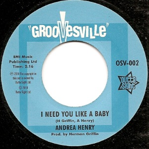 ANDREA HENRY - I need you like a baby - 45T (SP 2 titres)