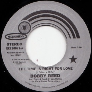 BOBBY REED - The time is right for love - 45T (SP 2 titres)