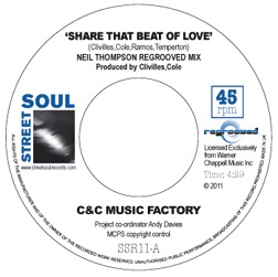 C&C MUSIC FACTORY - Share that beat of love - 45T (SP 2 titres)