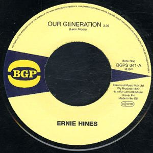 ERNIE HINES - Our Generation - Rock creek park - 45T (SP 2 titres)