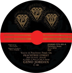 GENO JORDAN - You're a peachtree freak on - 12 inch 45 rpm