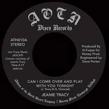 JEANIE TRACY - Can I come over and play with you tonight / Hot (for your love' - 45T (SP 2 titres)