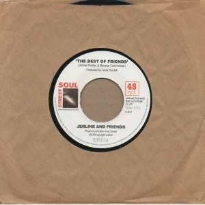 JERLINE AND FRIENDS - The best of friends / Open up your heart - 7inch (SP)
