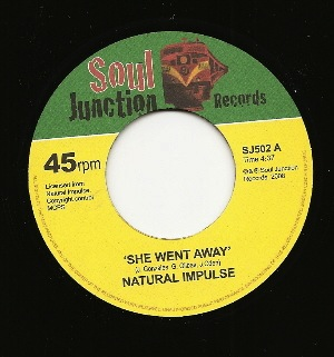 NATURAL IMPULSE - She went away / Time is right - 7inch (SP)