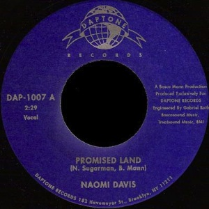 NAOMI DAVIS - Promised land - 45T (SP 2 titres)