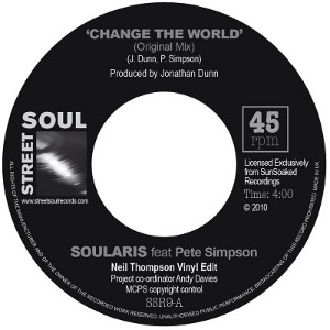 SOULARIS FEAT. PETE SIMPSON - Change the world - 7inch (SP)