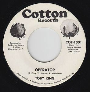 TOBY KING - Love one another / Operator - 7inch (SP)